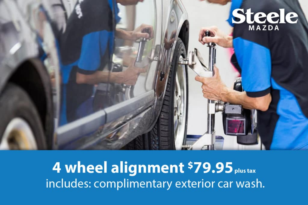 4 wheel alignment $79.95 plus tax